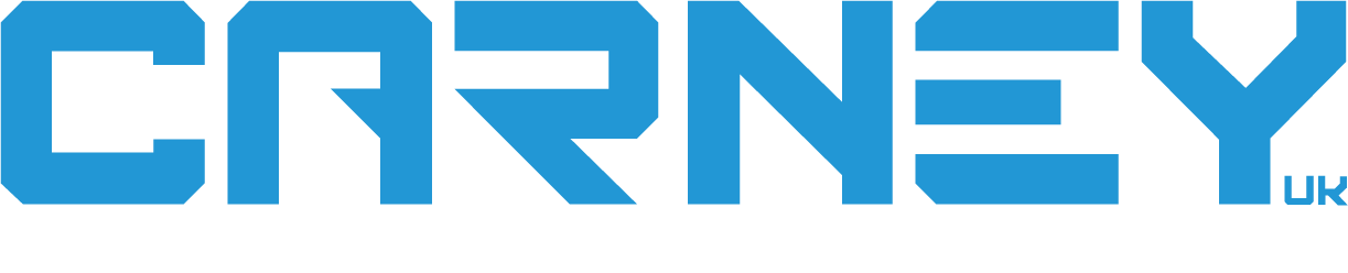 Carney Logo RGB Type Only_White Strapline